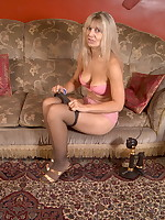 British amateur milf in pantyhose