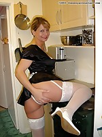 Busty British MILF dressed as a French made