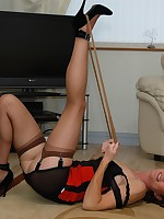 self bondage with nylons